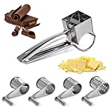 Best Cheese Shredders - 5 Pcs Rotary Cheese Grater Stainless Steel Cheese Review