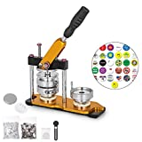 VEVOR Button Maker Rotate Button Maker Yellow with 100 Sets Circle Button Parts (75mm)
