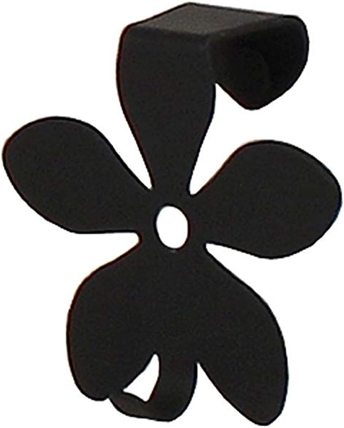 Spectrum Diversified Over-The-Cabinet Flower Single Hook, Black