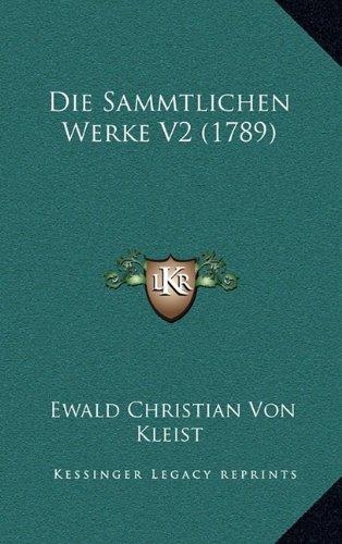 Die Sammtlichen Werke V2 (1789)