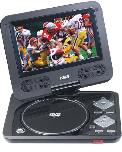 Naxa NPD-702 7-Inch TFT LCD Swivel Screen Portable DVD Player with USB/SD/MMC Inputs