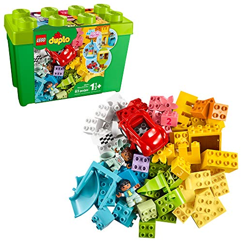 LEGO DUPLO Classic Deluxe Brick Box 10914 Starter Set with Storage Box, Great Educational Toy for Toddlers 18 Months and...
