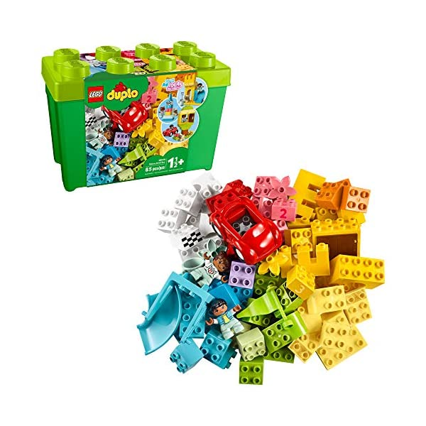 LEGO DUPLO Classic Deluxe Brick Box 10914 Starter Set with Storage Box, Great Educational...