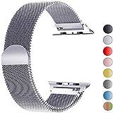 VIKATech Ersatzarmband kompatibel mit Apple Watch 40mm 38mm | Edelstahl Armband | Smartwatch Ersatzarmbänder mit Magnet kompatibel mit iWatch Series 5/4/3/2/1, Silber