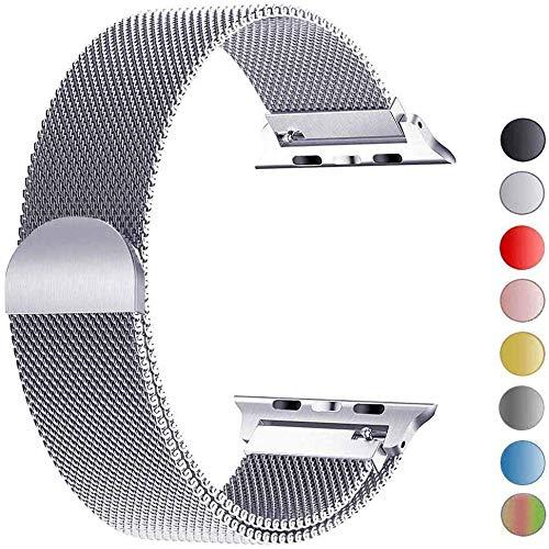 VIKATech Compatible Cinturino per Apple Watch Cinturino 44mm 42mm, Cinturino Orologio Bracciale in Acciaio Inossidabile Cinghia Banda Bracciale per iWatch Series 5/4/3/2/1, Plate