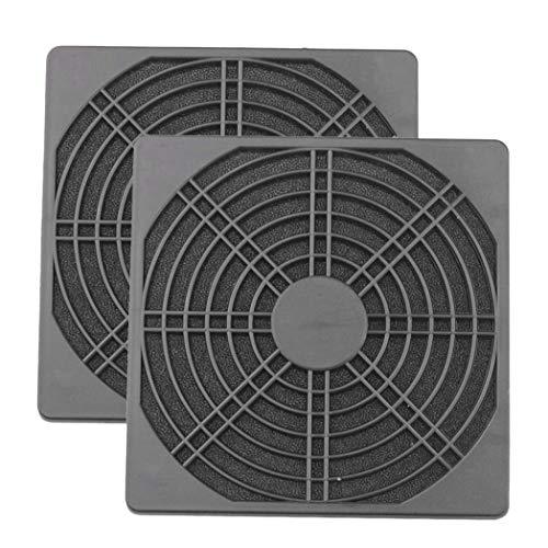 Sonline 2 Piezas Protector de Ventilador a Prueba de Polvo, Rejilla de Ventilador de Ordenador ABS, Filtro de 120Mm, Cubierta de Malla de Ventilador, Colador de Ventilador Sin Herramientas