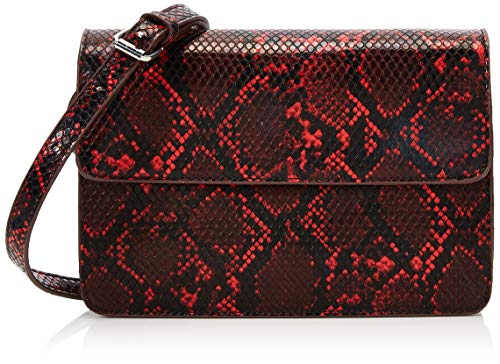 PIECES Pcjulie Cross Body - Borse a tracolla Donna, Multicolore (Racing Red), 2x14x22 cm (B x H T)