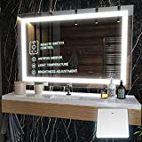 ☑️ Bathroom Vanity Mirror - Introducing the KRISTALLUM High Definition led bathroom mirror featuring a smart wireless remote switch designed to perfectly fit & light up your space without any hard wire installation. Just Plug and Shine! ☑️ Crystal Cl...