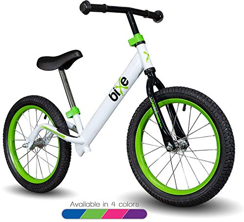 "Green Pro Balance Bike for Big Kids and Kids with Special Needs - 16"" No Pedal Glide Training Bicycle For Children Ages 5,6,7,8. Peddle-Less Bike Made For Fun Learning."