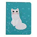 JIUCHUAN Case For iPad Pro 11 Inch 2nd & 1st Generation 2020/2018 iPad Pro 11 Inch Case Cat Set Vector Illustration Cartoon Different iPad Pro Tablet Case Support iPad 2nd Gen Pencil Chargi