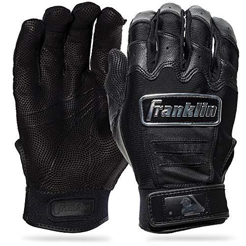 Franklin Sports CFX Pro Gants de frappeur chromés pour Adulte Noir Taille XL