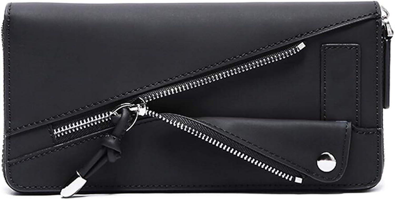 Women's Wallet Fashion Zipper MultiCard Long Female Wallet Trend Leisure Wallet Female MultiFunction Handbag Convenient Card Coin Purse Black