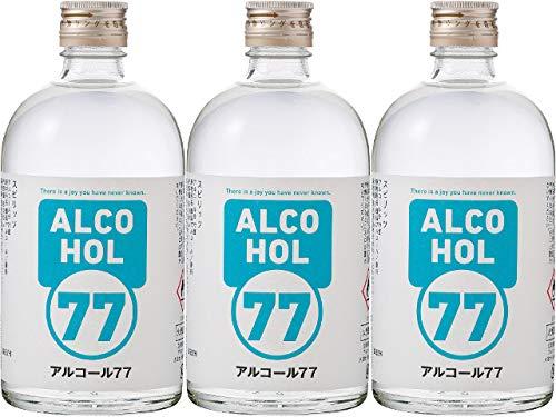 [3本セット] 菊水酒造 アルコール 77 ウォッカ 77度 500ml×3本
