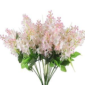 GTIDEA 4pcs Artificial Wisteria Bundle Fake Flowers Silk Floral Bouquet Arrangements Home Garden Fences Restrant Hotel Parties Wedding Simulation Decor