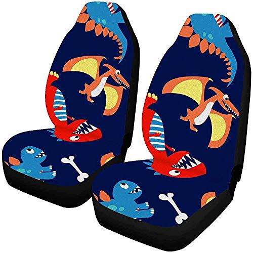 2 stuks grappige katten-autostoelhoezen voor de voorkant, autostoelbeschermer, geschikt voor de meeste auto's, vrachtwagens, SUV's, auto's en dergelijke.