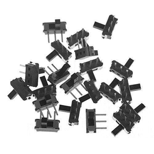 Qirun 20 Unids/Set 3-Pin SPDT 1P2T Micro Interruptor Deslizante Palanca de Enclavamiento Manija Deslizante 4MM