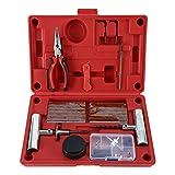 FreeTec, robusto kit di riparazione pneumatici,set da 56 pezzi per moto, ATV, jeep, camion, trattori, per riparare la foratura dello pneumatico