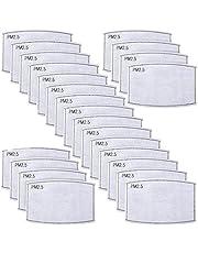 50 unidades filtros de carbón activado reemplazables PM 2.5 para filtros de carbón antivaho para adultos