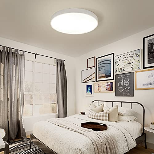 VISDANFO LED Deckenleuchte Cool White Warmweiß Runde Moderne Deckenleuchte Schlafzimmerleuchte Küchenleuchte Wohnzimmerleuchte Kinderzimmerleuchte badezimmer lampe((36W weiß 30cm Wandsteuerung))