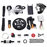 Electric Bicycle Mid-Drive Motor Kit Brushes Motor Mountain Bike Road Bike Normal Bike Conversion Motor Kit DIY Refit E-Bike Conversion Full Set for 16'-26' Bike (350W 36V)