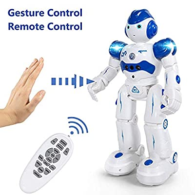 Taiker Robot for Kids, Intellectual Gesture Sensor & Rechargeable Robot Toys for Kids with Walking, Sliding, Turning, Singing, Dancing, Speaking and Teaching Science