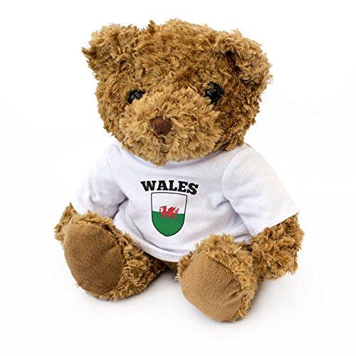 London Teddy Bears Drapeau du Pays de Galles – Ours en Peluche Mignon et câlin – Cadeau pour Fan du Pays de Galles Cymru
