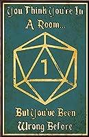 サイコロゲームゲームファミリーライフデコレーションポスターDNDドラゴンズ&ダンジョンカフェ、バー、家、庭壁すずマークポスター8x12インチ