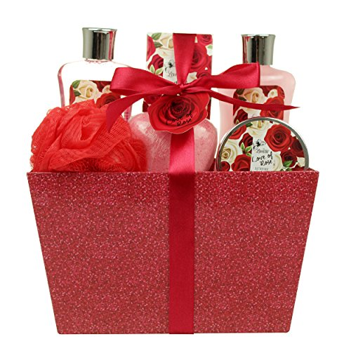 Valentine's Day Bath and Body - Spa Gift Baskets for Women & Girls, Spa Kit...