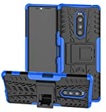 Yiakeng Sony Xperia 1 Case, Double Layer Shockproof Slim