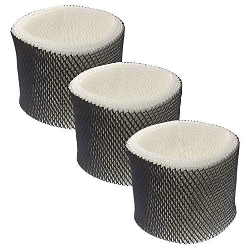 Uniquk Paquet de 3 Filtres pour Humidificateur de Rechange pour Les Humidificateurs à Brume FraaChe Holmes HWF65, HWF65PDQ-U, Filtre C et Sumbeam Bionaire
