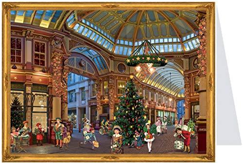 Richard Sellmer Verlag Nostalgischer Postkarten Adventskalender mit Bildern für Kinder und Erwachsene Christmas Shopping