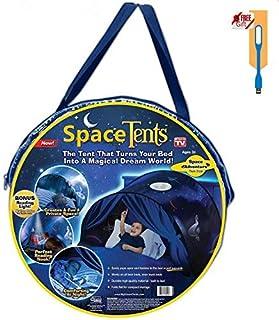NiLeFo Tienda de campaña para niños PlayTentsPop Up BedtenCastles Regalo de cumpleaños Ropa de Cama decoración (Espacio)