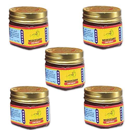lujiaoshout Medicamentos para aliviar el ungüento a Base de Plantas Crema Tiger Balm Ungüento para el Alivio Temporal del Dolor Muscular Dolores de Cabeza Dolores 5PCS cosmética Piezas