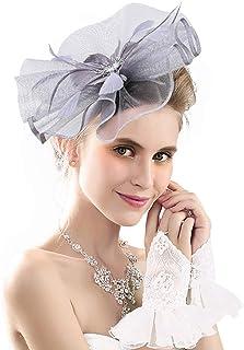 Merya Dress DotVeil Kentucky Derby Fascinator Hats Feather Prom Cocktail Tea Party Hats
