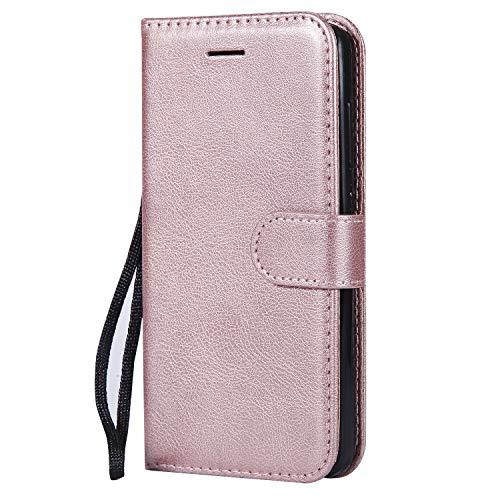 Hülle für Xiaomi Redmi 4A Hülle Handyhülle [Standfunktion] [Kartenfach] Tasche Flip Hülle Cover Etui Schutzhülle lederhülle flip case für Xiaomi Redmi 4A - DEKT051876 Rosa Gold