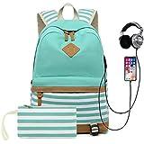Teen Girls Backpack Canvas Sch...