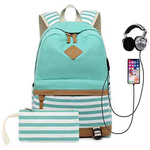 School Backpack for Girls Teens College Bookbag Back Bag with USB Charging Port