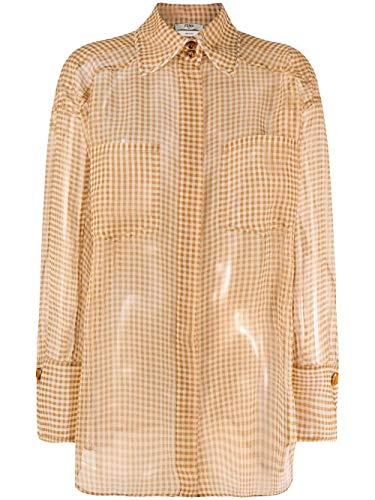 Luxury Fashion | Fendi Dames FS7270A5YBF0ZNM Beige Zijde Overhemden | Lente-zomer 20