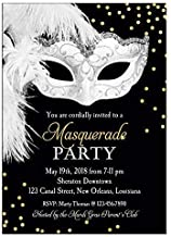 Masquerade Invitation - ANY Wording - Carnival, Masquerade, Ball, Mardi Gras Party