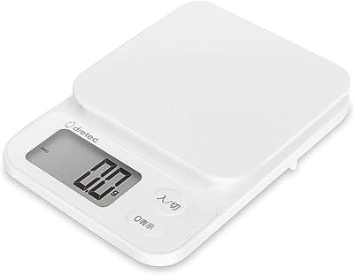 dretec(ドリテック) 計量器 はかり 料理 1kg 0.1g単位 ホワイト 1年保証 KS-616WTDI