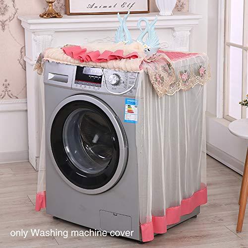 Waschmaschinen-Staubschutz mit Spitzenrand, wasserdicht, UV-Schutz, Trockner-Abdeckung, passend für Outdoor-Oberlader und Frontlader, rot