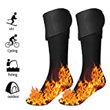 Honelife D12 Electric Heated Socks Foot Warmers for Men and Women,Rechargeable Battery Operated, Electric Heating Socks, Washable, Winter Ski, Foot Warmer