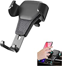 Ebow Air Vent Phone Holder Gravity Reaction Car Mobile Phone Holder Clip Type Air Vent Monut for All GPS Smart Phone (Black)