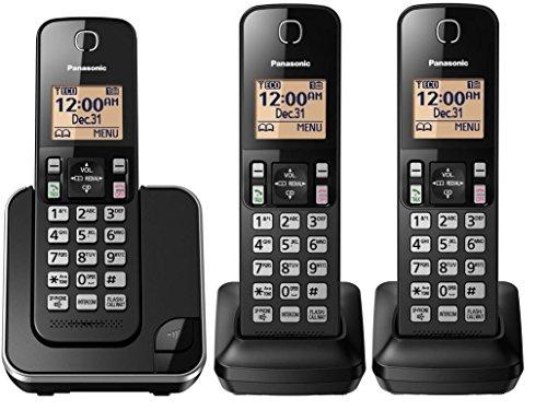 Telefone Sem Fio Panasonic com + 2 Ramais, bina e Viva voz
