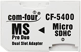 com-fourAdaptadorDualmicroSD-AdaptadorMicroSDHCaMSProDuoTarjetadeMemoriamicroSDaMemoryStickparaPSPCámara&Celularmáx.32GB (1 Pieza)