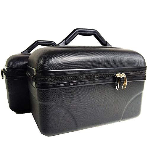 2 Vanity Case - Neceser rigidos de Aseo- Neceser de Viaje - Estuche de Belleza - Policarbonato Flexible Ultra Light