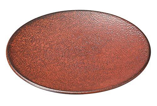 柿赤 19cm丸皿 [ 19.3 x 2cm ] [ 中皿 ] | 飲食店 和食 旅館 料亭 ホテル 業務用
