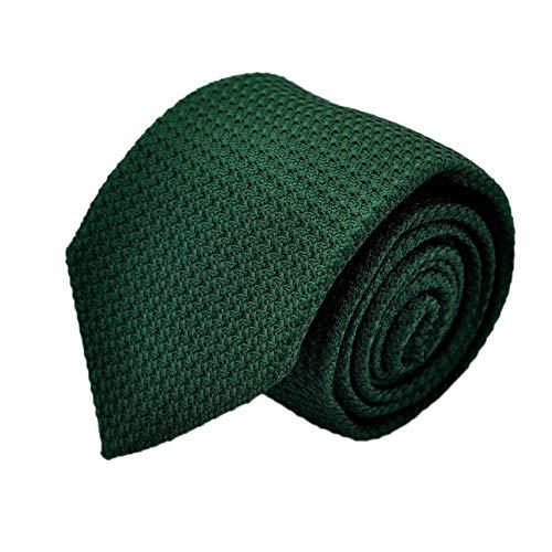 Segni & Disegni - Cravate en Grenadine de Soie 'grosso'. Vert