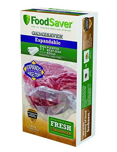 """Foodsaver 11"""" x 18' GameSaver Expandable Vacuum Bag Rolls, 2-Pack"""
