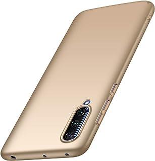 LAGUI Compatible para Funda Xiaomi Mi 9 Lite, Ultrafino Carcasa Dura de Ligera y Simple (Único Color, Acabado Mate), Dorado